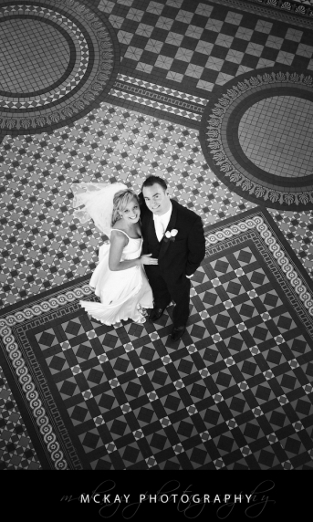 bride and groom qvb sydney