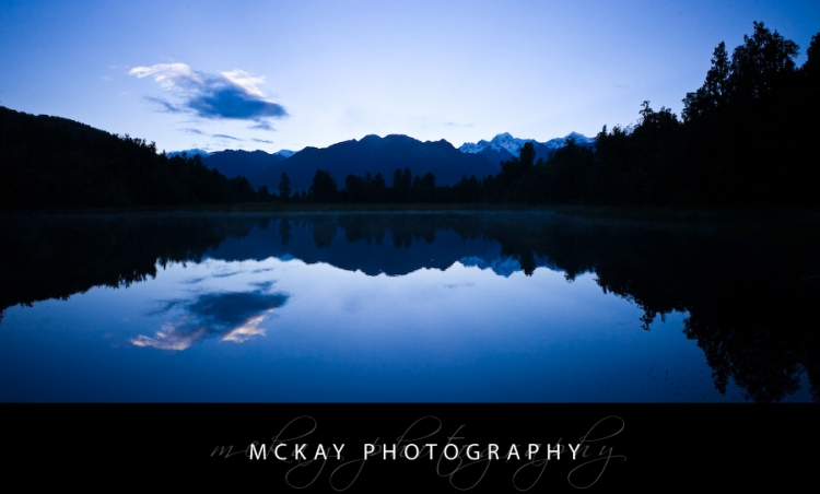 Lake Matheson reflecting Mt Cook