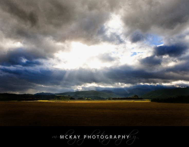 Sunlight on the Tararua Range