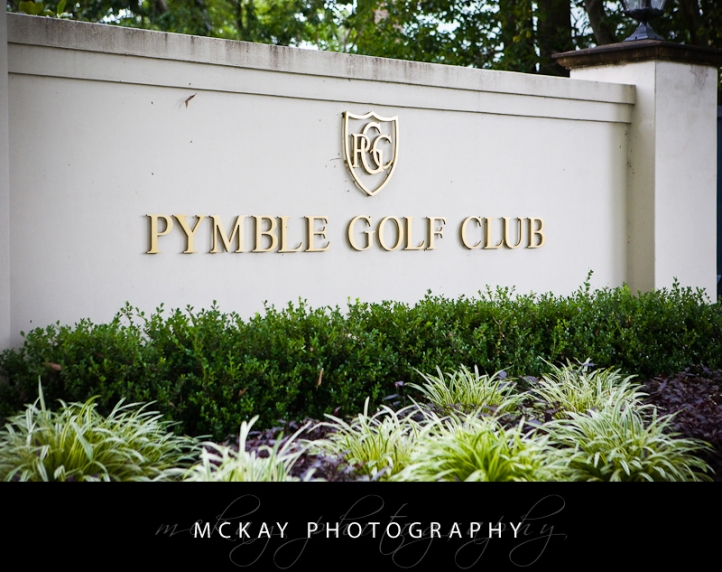Pymble Golf Club wedding
