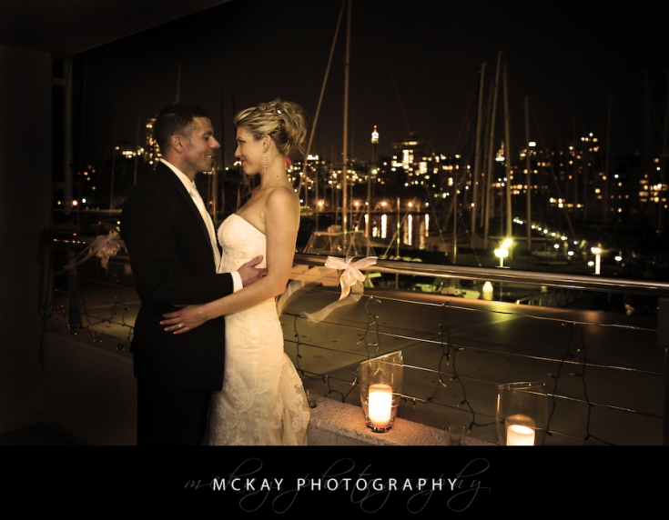 bride and groom rushcutters bay yacht club