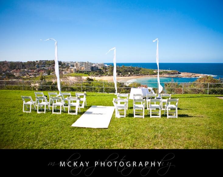 Freshwater View Reserve wedding ceremony