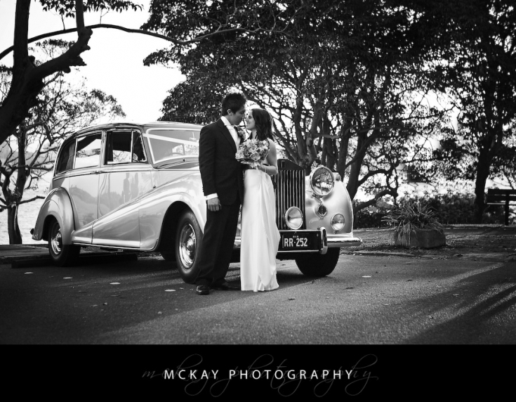 bride & groom wedding car