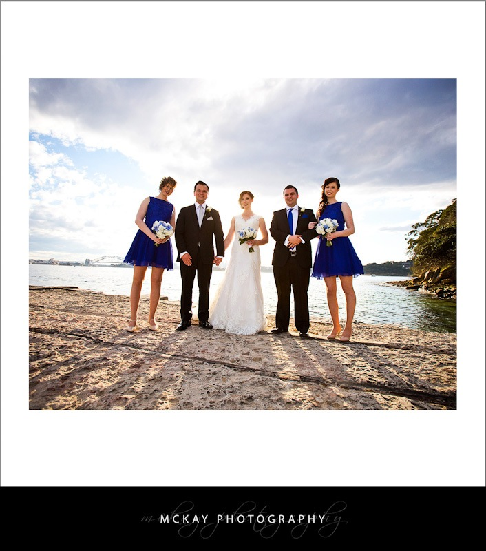 The bridal party at Bradley's Head