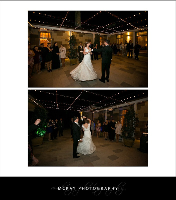 First dance in the courtyard